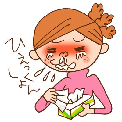 花粉症The-runny-nose-sniffles